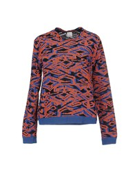Pinko Tag Topwear Sweatshirts Women Brick Red