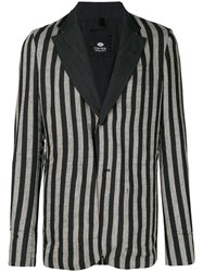 Tom Rebl Striped Blazer Black