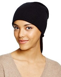 C By Bloomingdale's Cashmere Angelina Slouch Hat Black