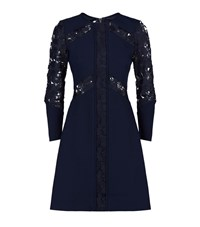 Ted Baker Zerina Lace Insert Dress Female Navy
