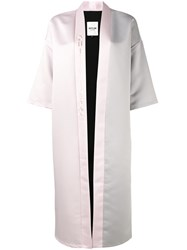 Outlaw Moscow Logo Embroidered Cross Robe Women Cotton Polyester Artificial Leather S Pink Purple