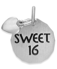 Rembrandt Charms Sterling Silver Sweet 16 Heart Charm