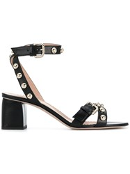 Red Valentino Studded Sandals Black