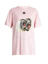 Givenchy Screaming Monkey Short Sleeved T Shirt Pink