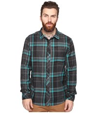 Billabong Coastline Wave Washed Flannel Charcoal Heather Men's Clothing Gray