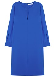 Dorothee Schumacher Fabulous Flow Blue Silk Dress Bright Blue