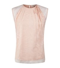 Sandro Enya Sleeveless Lace Top Female Pink