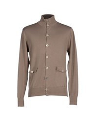 Private Lives Knitwear Cardigans Men Khaki