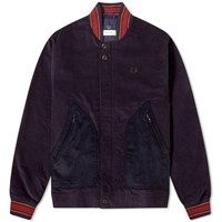 Fred Perry X Nicholas Daley Corduroy Bomber Jacket Blue