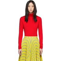 Calvin Klein 205W39nyc Red Classic Turtleneck