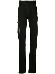 Lost And Found Rooms Slim Zip Trousers Black