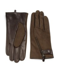 John Varvatos Deerskin And Wool Zip Gloves