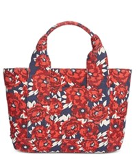 Tommy Hilfiger Natalie Painted Floral Shopper Tote Red