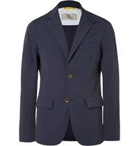 Canali Slim Fit Water Resistant Shell Blazer Blue