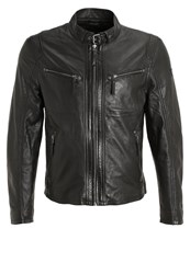 Gipsy Chester Leather Jacket Schwarz Black