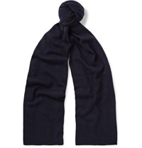 Theory Donners Cashmere Scarf Midnight Blue