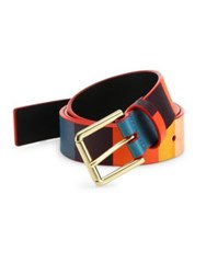 Paul Smith Multi Colored Leather Belt