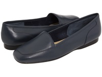 Enzo Angiolini Liberty Navy Leather Women's Flat Shoes Blue