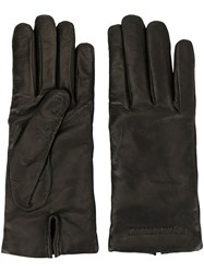 Emporio Armani Classic Smooth Gloves Black