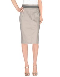 Pianurastudio Skirts 3 4 Length Skirts Women Light Grey