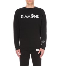 Diamond Supply Co. Mount Olympus Logo Print Sweatshirt Black