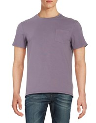 Black Brown Short Sleeved Pocket Tee Dusty Lavender
