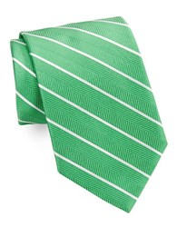 Brooks Brothers Classic Herringbone Striped Tie Green