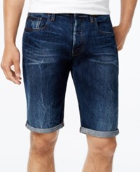 Gstar Men's 3301 Tapered Denim Shorts Med Age Destroyed
