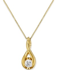 Sirena Diamond Twist Pendant Necklace In 14K Gold 1 5 Ct. T.W.