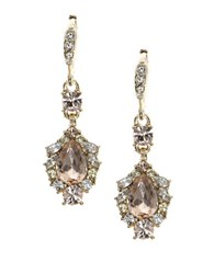 Givenchy Austrian Crystal Goldtone Double Drop Earrings