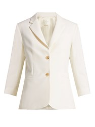 The Row Schoolboy Tailored Wool Blend Blazer White