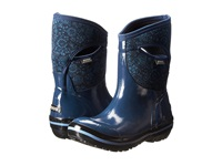 Bogs Plimsoll Quilted Floral Mid Indigo Women's Work Boots Blue