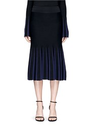 Nicholas Pleat Effect Milano Knit Skirt Black