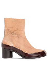 Maison Martin Margiela 60Mm Tabi Distressed Suede Boots Brown