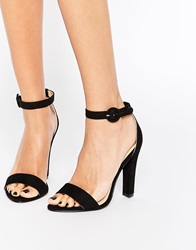 London Rebel Barely There Heeled Sandals Blackmf