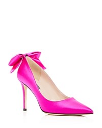 Sarah Jessica Parker Sjp By Lucille Bow Pointed Toe Pumps Fuschia