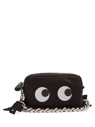 Anya Hindmarch Eyes Satin Clutch Black