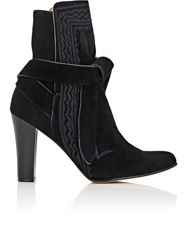 Ulla Johnson Embroidered Ankle Boots Black