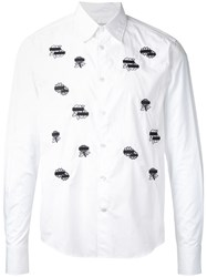 Anrealage Flower Wappen Shirt White