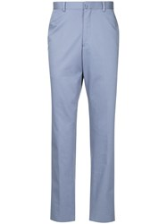D'urban Straight Leg Trousers Pink And Purple