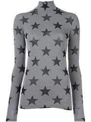 Gareth Pugh Star Roll Neck Top Grey