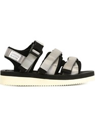 Suicoke Velcro Strap Sandals Grey