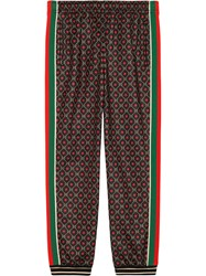 Gucci Loose Jogging Pant With Gg Star Print Brown