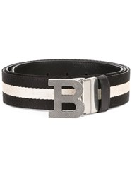 Bally Initial Buckle Belt Black