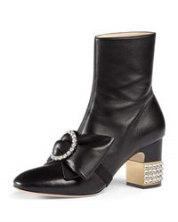 Gucci Candy Leather Buckle Boot Black