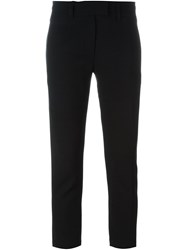Ann Demeulemeester Cropped Slim Trousers Black