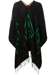 Marcelo Burlon County Of Milan 'Rosario' Poncho Black