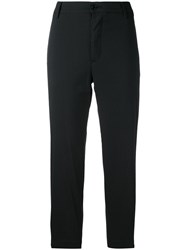 Barena Cropped Trousers Women Cotton Polyamide Spandex Elastane 42 Black