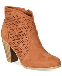 American Rag Ariane Ankle Booties Only At Macy's Women's Shoes Rust