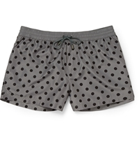 Dolce And Gabbana Short Length Polka Dot Swim Shorts Gray